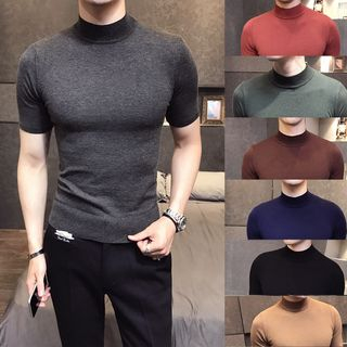 Orizzon(オリッゾン) - Short-Sleeve Knit Top