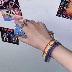 Porstina - 彩虹條紋帶扣帶手鏈