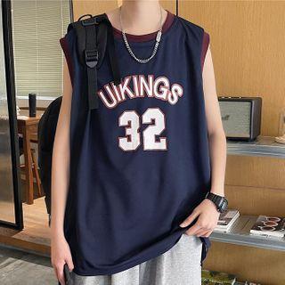Diphon - Letter Print Basketball Vest