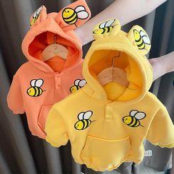 MOM Kiss - Kids Bee Applique Long-Sleeve Bodysuit Top
