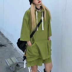 LINSI - Short-Sleeve Hoodie / Cargo Shorts