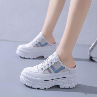 Sleeko(スリーコ) - Platform Mesh Sneaker Mules