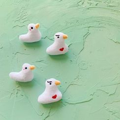 Hello minto - Fleece Duck Brooch