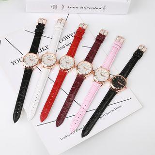 Epoca - Retro Faux Leather Strap Watch