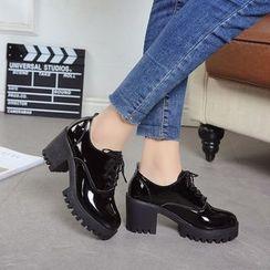 Mowin - 厚底系带鞋