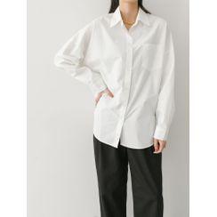 PPGIRL - Pocket-Front Loose-Fit Shirt