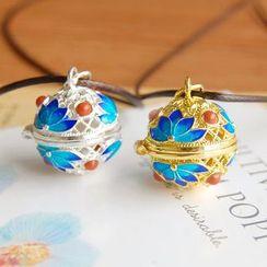 Nisen - Lotus Copper Fragrance Sachet Pendant Necklace