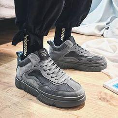 MARTUCCI - 人造麂皮拼接中筒休閒鞋