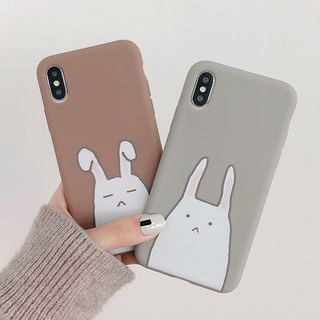 Aion - Rabbit Print Mobile Case - iPhone XS Max / XS / XR / X / 8 / 8 Plus / 7 / 7 Plus / 6S / 6S Plus