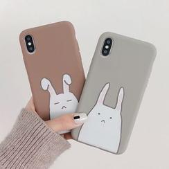 Aion - 小兔印花手机套 - iPhone XS Max / XS / XR / X / 8 / 8 Plus / 7 / 7 Plus / 6s / 6s Plus