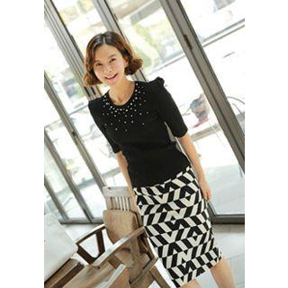 Lemite - Geometric Pattern Skirt