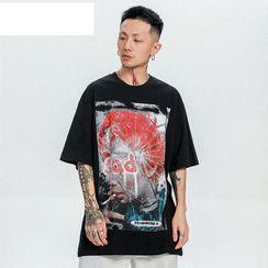Oppa homme - Short-Sleeve Printed Shirt