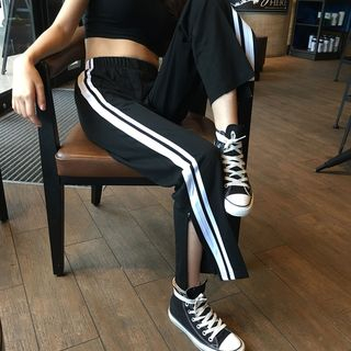 Tiny Times - Striped Zip-Leg Sweatpants