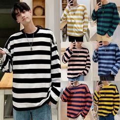 Gonzalito - Striped Long-Sleeve T-Shirt
