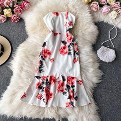 Yearnin - Floral Wipes Bosom Mermaid Dress