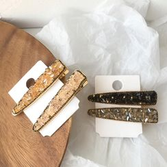 Gold Beam - Faux Crystal Hair Clip