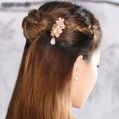 Gangnam - Retro Flower Gemstone Hair Comb