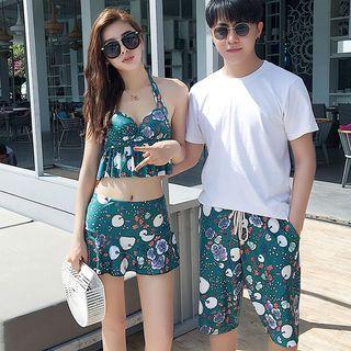 Clair Fashion - Couple Matching Printed Bikini  / Swim Shorts