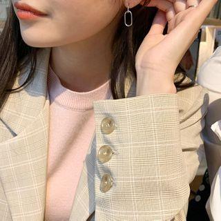 CHERRYKOKO - Oblong Dangle Earrings