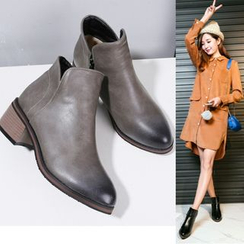 Shoes Galore(シューズガロア) - Block Heel Ankle Boots