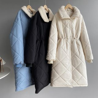 Glovon - Quilted Faux Shearling Jacket