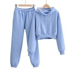 Opuscule - 套裝: 短款抽繩連帽衫 + 運動褲