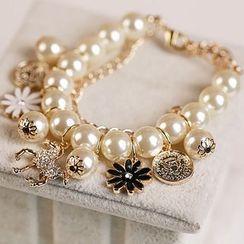 Ignar - Faux Pearl Layered Bracelet