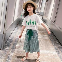 Pegasus - Kids Set: Short-Sleeve Printed T-Shirt + Wide-Leg Pants
