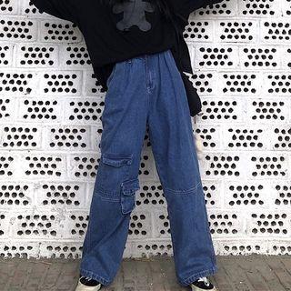 LINSI - Wide-Leg Cargo Jeans