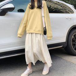 Dute - Lettering Pullover / Midi A-Line Skirt