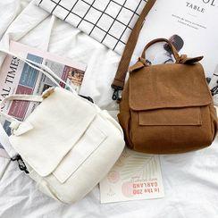 OUCHA - Plain Canvas Crossbody Bag