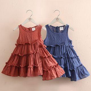 Seashells Kids - Kids Sleeveless A-Line Layered Dress