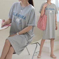 Seoul Fashion - Letter Print T-Shirt Dress