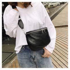 Perlin - Plain Zip Crossbody Bag