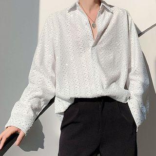 Bjorn - Long-Sleeve  Jacquard Shirt