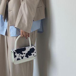 NiniChloe - Cow Print Flap Handbag