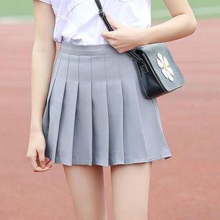 Everose - Plain Pleated Mini Skirt