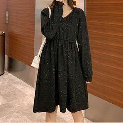 Empressa - Maternity  Long-Sleeve Glitter Knit Dress