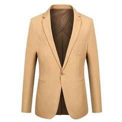 RUYA - Plain Single-Button Blazer