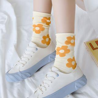 Sayaka - Flower Print Socks