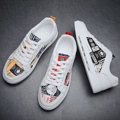 MARTUCCI - Printed Canvas Sneakers