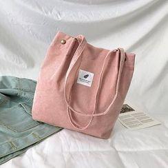 Behere - Appliqued Corduroy Tote Bag
