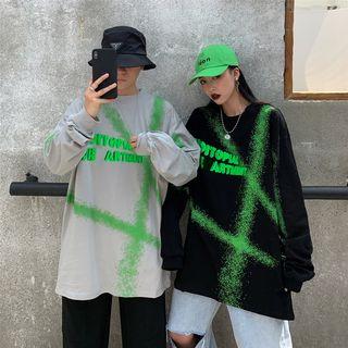 Giuliana - Couple Matching Printed Long-Sleeve Oversize T-Shirt