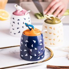 Yomerto - Printed Ceramic Seasoning Pot