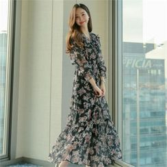 Styleberry - Floral Print Chiffon Dress