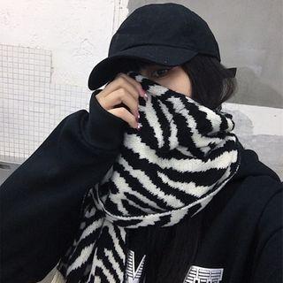 Banash - Zebra Print Knit Scarf