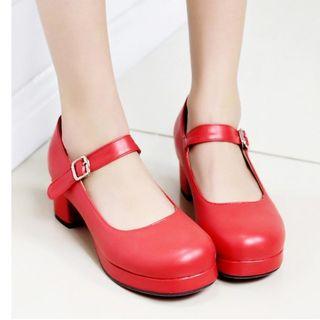 Freesia - Block-Heel Mary Jane Shoes