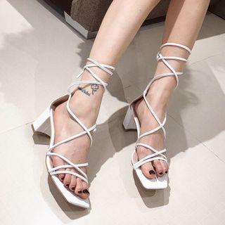 安若 - 粗跟涼鞋