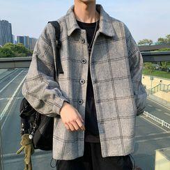 Oakjam - Plaid Button-Up Coat