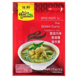 Asian Home Gourmet - Spice Paste for Thai Green Curry 50g (Serves 4)